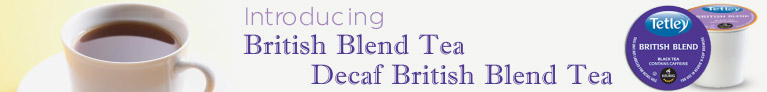 Tetley British Blend, Decaf K-Cups