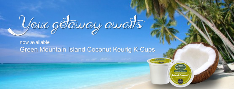 Green Mountain Island Coconut K-Cup, Coconut K-Cups, Seasonal K-Cups