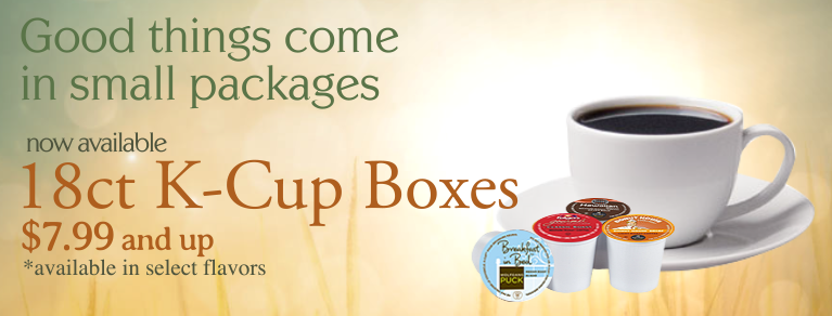 18ct K-Cups, 18 ct Kcups, K-Cups discount, K-Cups cheap, K-cups variety, K-Cups small box