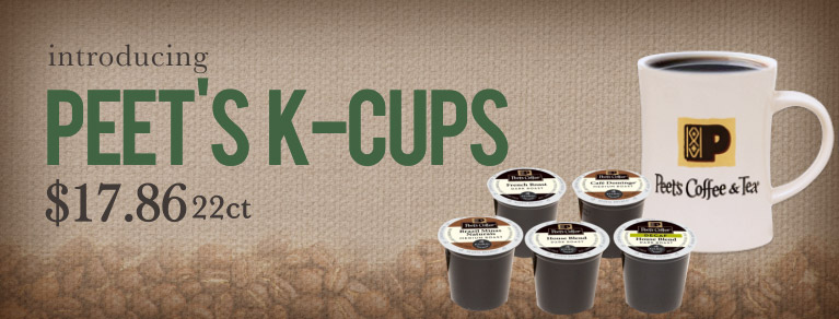 Peet's K-Cups, K-Cups Sale, K-Cups bargain, decaf K-Cups, french roast K-Cups