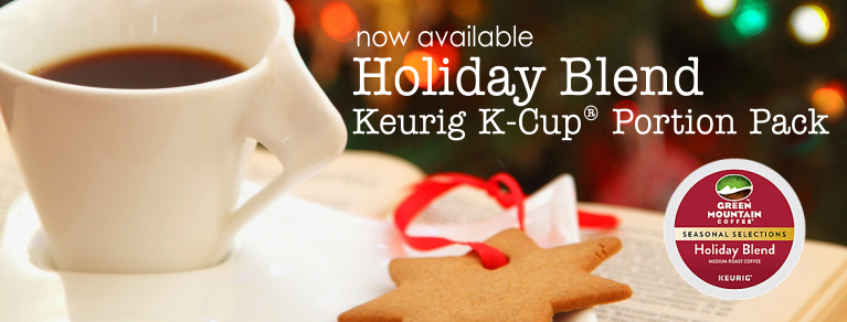 Holiday Blend Coffee, Holiday Blend K-Cups, Green Mountain Coffee Holiday Blend