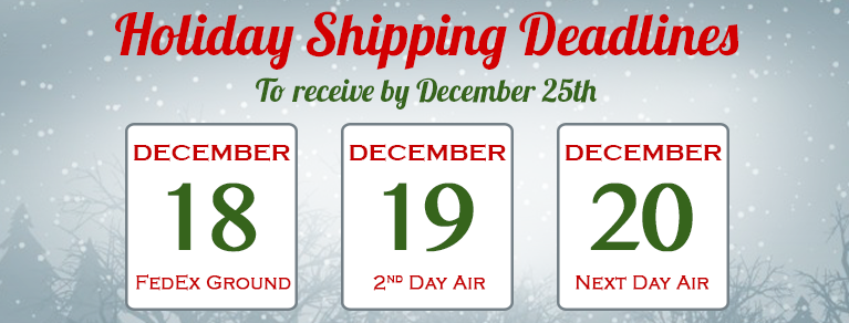 Coffeewiz Christmas Shipping Deadlines