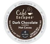 Cafe Escapes Dark Chocolate Hot Cocoa Keurig K-Cup® packs**OUT OF STOCK**