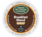Green Mountain Breakfast Blend Decaf. Coffee Keurig K-Cup Portion Pack