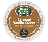 Green Mountain Caramel Vanilla Cream Coffee Keurig K-Cup Portion Pack