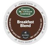 Green Mountain Breakfast Blend Coffee Keurig K-Cup Portion Pack