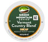 Green Mountain Vermont Country Decaf. Coffee Keurig K-Cup® Packs