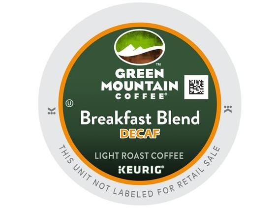 Green Mountain Breakfast Blend Decaf. K-Cup Coffee