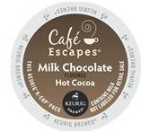 Cafe Escapes Milk Chocolate Hot Cocoa Keurig K-Cup® packs