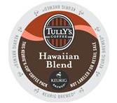 Tully's Hawaiian Blend Extra Bold Coffee Keurig K-Cup Portion Pack