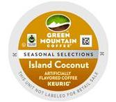 Green Mountain Island Coconut Coffee Keurig K-Cup® Packs