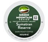 Green Mountain Organic Sumatran Reserve Extra Bold Coffee Keurig K-Cup® Packs