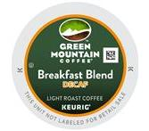 Green Mountain Breakfast Blend Decaf. Coffee Keurig K-Cup® Packs