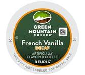 Green Mountain French Vanilla Decaf. Coffee Keurig K-Cup® Packs