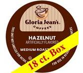 Gloria Jean's Hazelnut Coffee Keurig K-Cup Portion Pack - 18ct.
